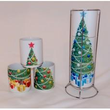 Christmas Tree Stacking Mug Set